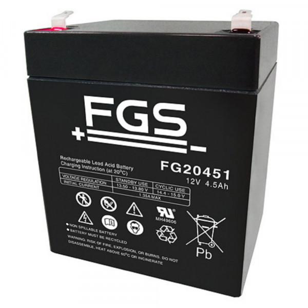 FGS FG20451SQ 12 Volt 4,5 Ah mit 4,8mm Stecker