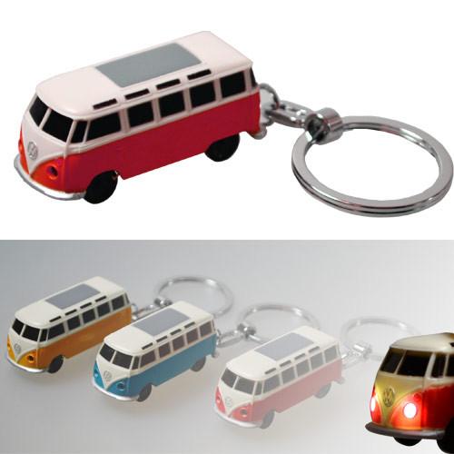 VW Bulli LED-Schlüsselanhänger Volkswagen Typ1 (1962) in rot