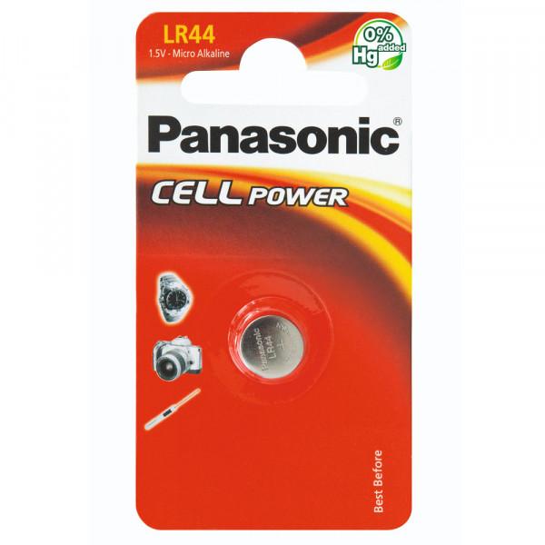 Panasonic LR44 Knopfzelle Cell Power Batterie (LR44EL/1B)