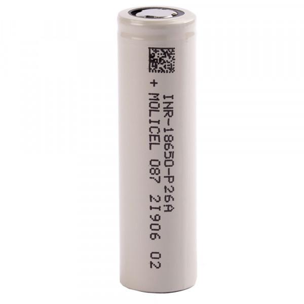 Molicel INR18650-P26A, 2600mAh 35A Li-Ionen-Akku, 3,6V - 3,7V
