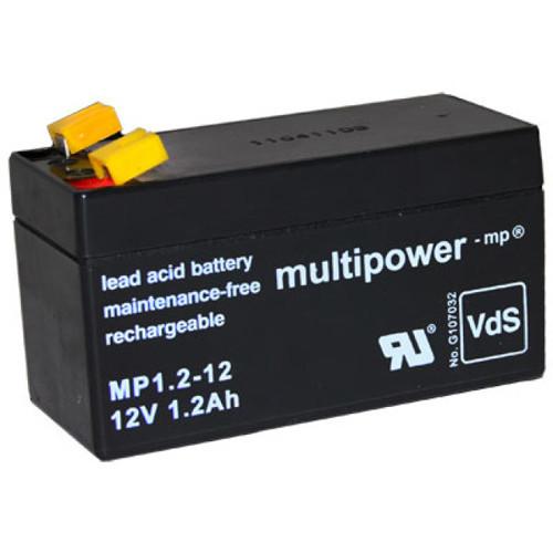 Multipower Bleiakku MP1.2-12 12,0Volt 1,2Ah mit 4,8mm Steckanschlüssen