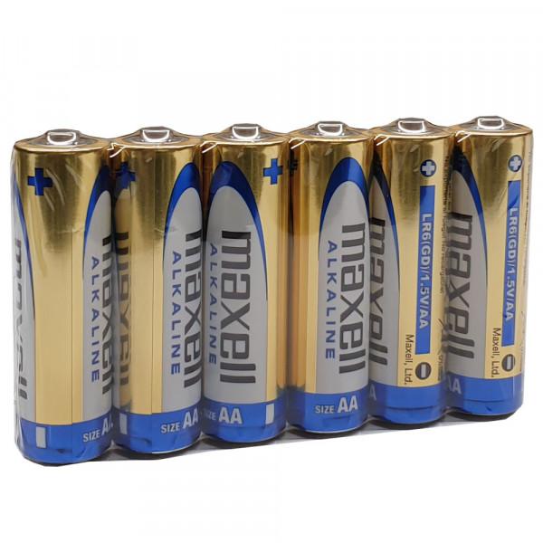 Maxell Mignon AA Batterien LR6 Alkaline 1,5V