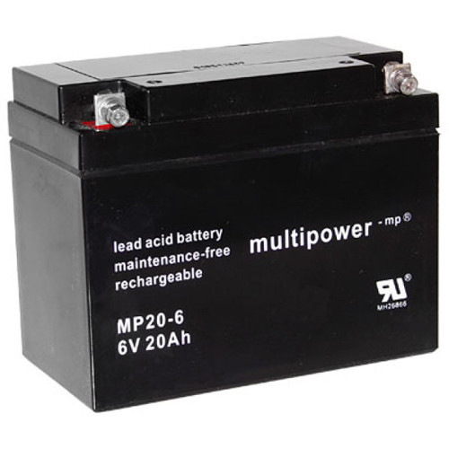 Multipower Bleiakku MP20-6 6,0Volt 20Ah mit M6 Schraubanschluss
