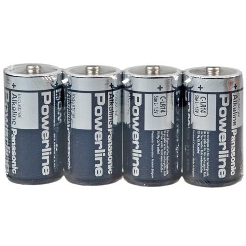Panasonic Industrial Baby Batterie Powerline - 4 Stück 1,5Volt