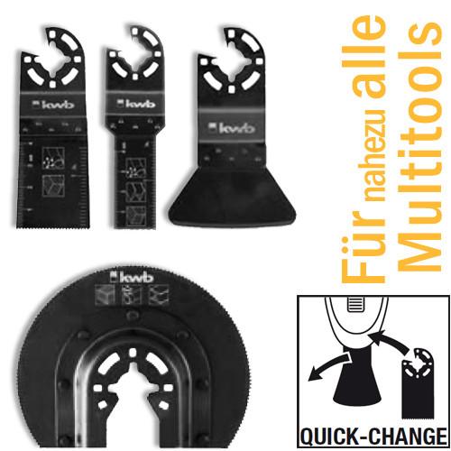 4-tlg. Universal-Set für handelsübliche Multitools, mit Quick-Change