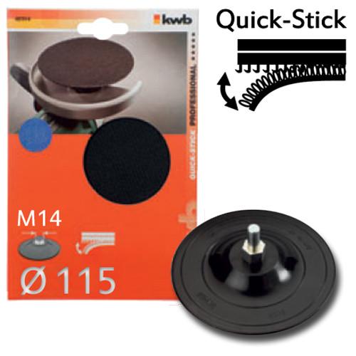 Haftstützteller mit M14 Gewinde, Ø 115mm - für Winkelschleifer