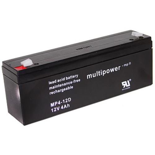 Multipower Bleiakku MP4-12D 12,0Volt 4.000mAh mit 4,8mm Steckanschlüssen