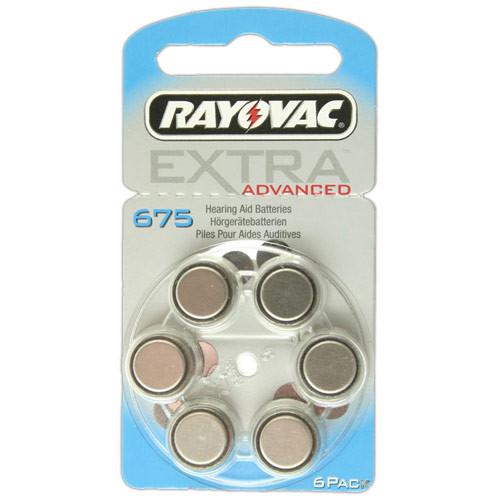 RAYOVAC Hörgeräte-Batterien R675AE Extra Advanced vom Typ 675 (im 6er Pack)