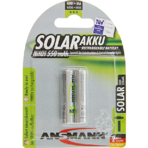 Ansmann Solar Micro (AAA) Green NiMH Akkus 1,2V 550mAh im 2er Pack