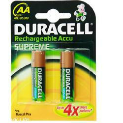 Duracell Supreme HR06 Mignon Akku 1,2Volt 2500mAh im 2er Blister NiMH