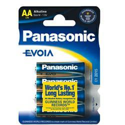 Panasonic Standard Batterie Mignon Evoia im 4er Blister