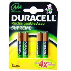 Duracell Supreme HR03 Micro (AAA) Akku 1,2 Volt 800mAh NiMH im 4er Blister