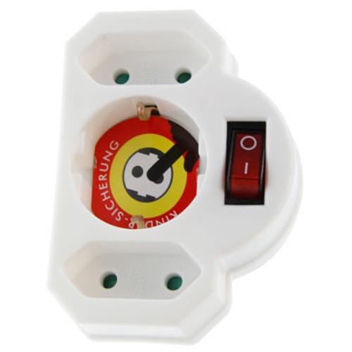 Arcas 3-fach Steckdose mit Schalter