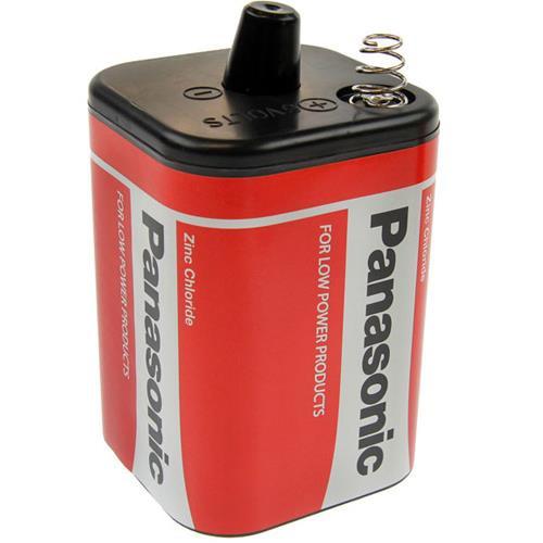 6 Volt Panasonic Red Zinc 4R25 Block-Batterie