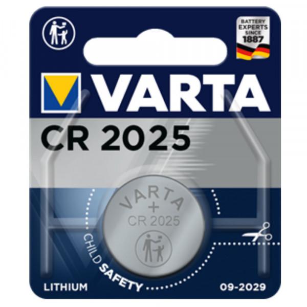 VARTA Lithium-Knopfzelle CR2025 3,0Volt 170mAh