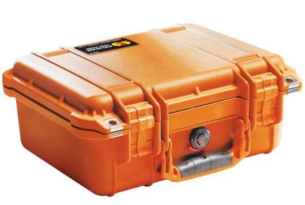 Peli 1400 Schutzkoffer, Case orange mit Würfelschaum