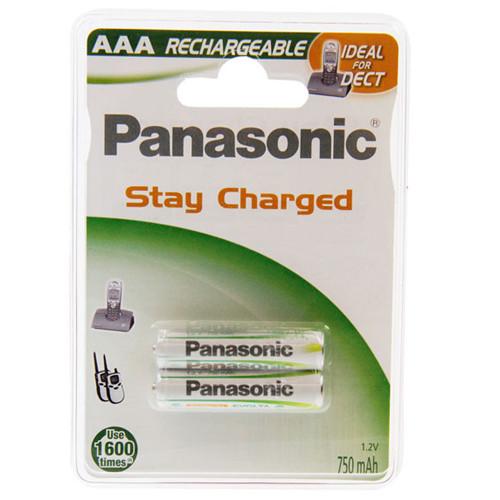 Panasonic Micro Akku P-03P/2BP NiMH 750mAh Telefonakku, 2er Blister