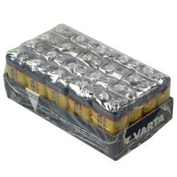 Varta Batterie Longlife Extra 4122 9,0Volt Block 6AM6 420mAh AlMN im 20er Vorteilspack
