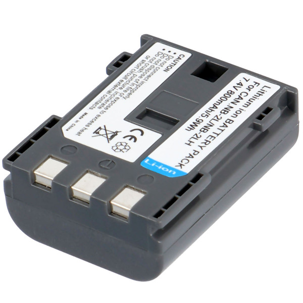 Akku passend für Canon NB-2LH, NB-2L Li-Ion, 800mAh