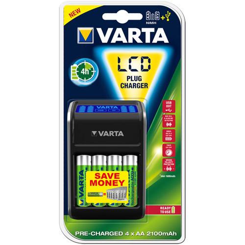 Varta LCD Plug Charger für Mignon (AA), Micro (AAA) und 9V Blöcke