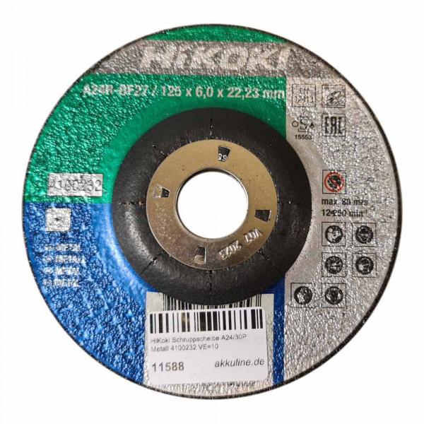 HiKoki Schruppscheibe A24/30P 125 x 6 x 22,2 mm für Metall (10Stk.)