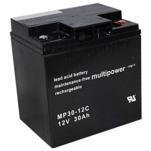 MultiPower Bleiakku MP30-12C Zyklen-Type 12,0Volt 30,0Ah mit M6-Schraubanschlüssen