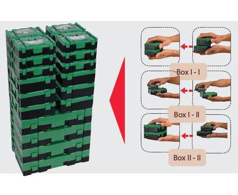 HiKoki Bohrer-Box 10-teilig mit SDS-plus HM-Bohrern (40030030)