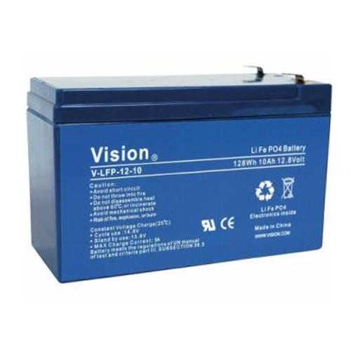Vision LFP1210 LiFePo4 Akku mit 12 Volt und 10Ah, 120Wh