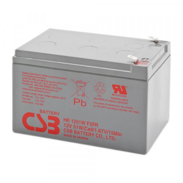 CSB HR1251W Bleiakku, Hochstromfester-Akku 12 Volt 51 Watt