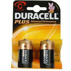 Duracell MN1400 Plus LR14 Batterie 2er Blister