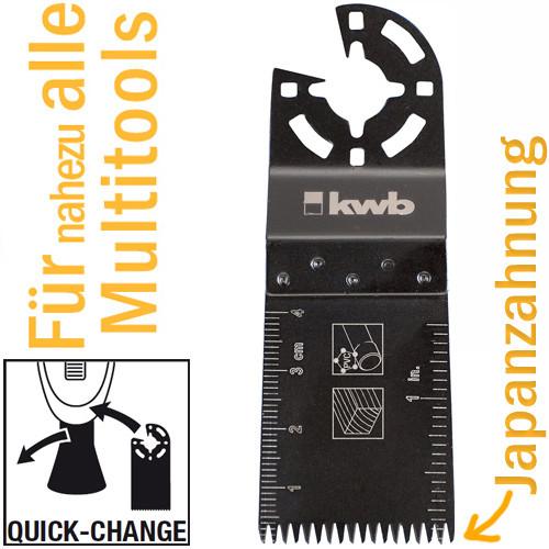 Tauchsägeblatt Japanzahnung, 34 mm für Multitools, mit Quick-Change