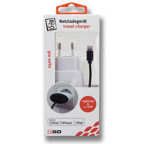 2GO Home-Charger Apple 8pin Netzladegerät
