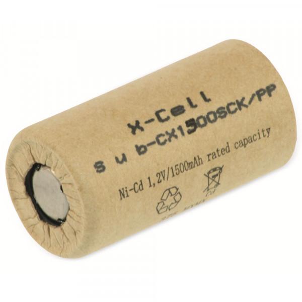 XCell Akku Sub-C 1,2V / 1500mAh 1500SCK Pappmantel