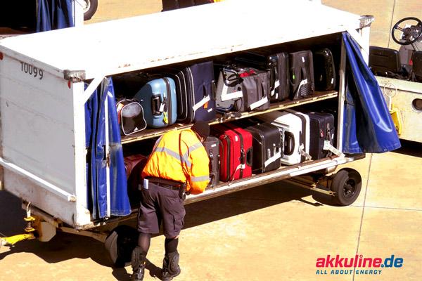 Richtlinien für Akkus auf Flugreisen