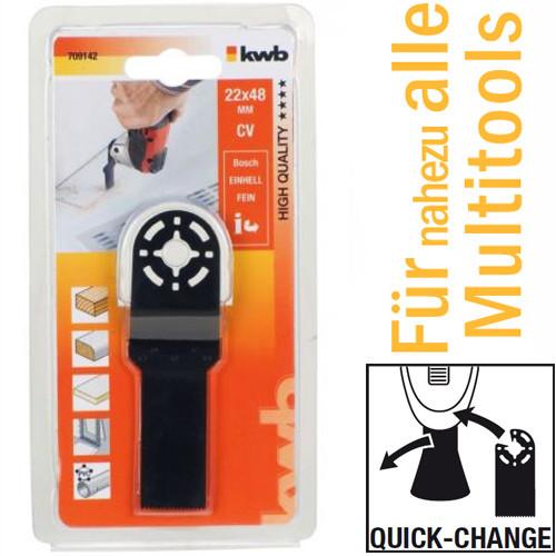 CV Tauchsägeblatt 22 mm für handelsübliche Multitools, mit Quick-Change