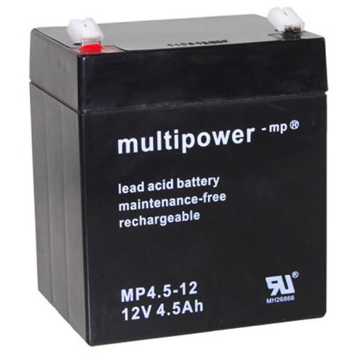 Multipower Bleiakku MP4.5-12 12,0Volt 4,5Ah mit 4,8mm Steckanschlüssen