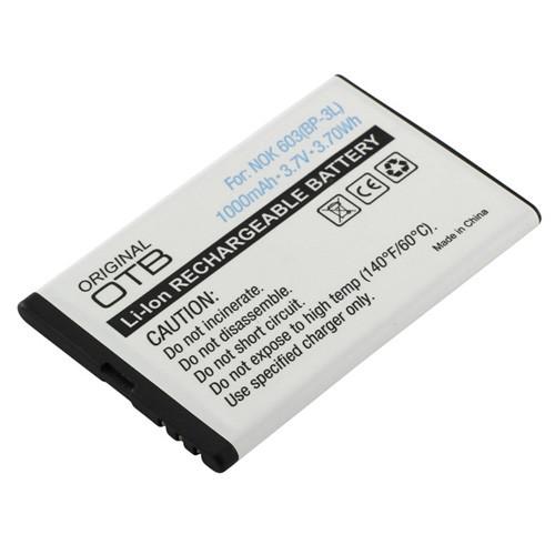 Akku passend für Nokia BP-3L 3,7Volt 1.000mAh Li-Ion (kein Original)