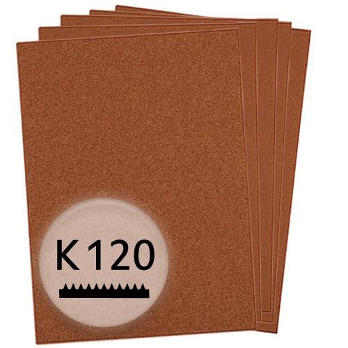 K120 Schleifpapier in 10 Bögen, 230x280mm - für Holz und Farbe