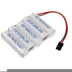 Eneloop Racingpack (Mignon) RC-Pack 6,0Volt 1.900mAh NiMH in 5er Reihe passend für Graupner