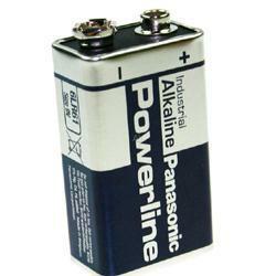 Panasonic Powerline 9Volt Block Industrial Batterie 6LR61 AlMN