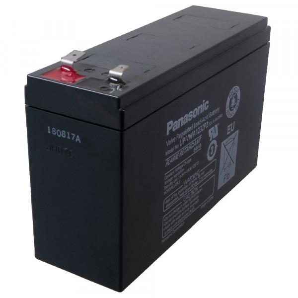 Panasonic Hochstrom Bleiakku UP-VWA1232P2 12,0Volt 6,4Ah mit Faston +6,3 mm -4,8 mm Steckanschlüssen