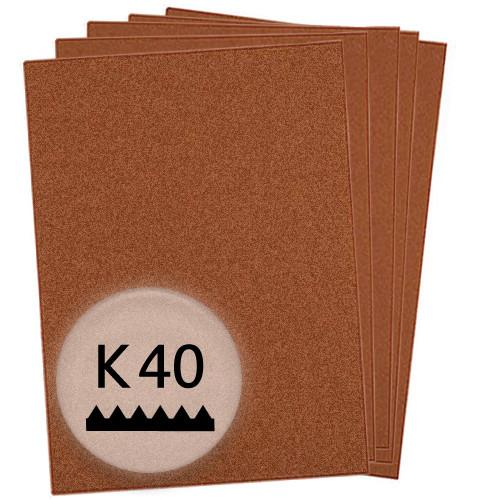 K40 Schleifpapier in 10 Bögen, 230x280mm - für Holz und Farbe