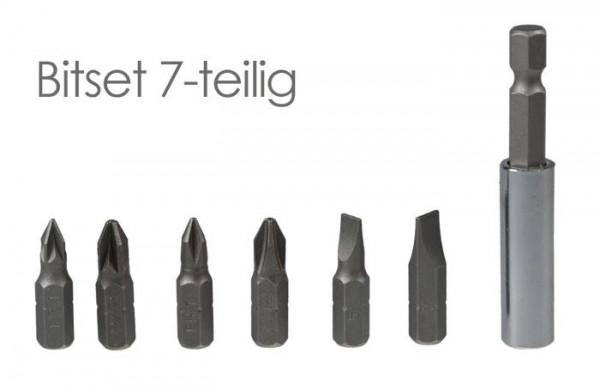 Bit-Set 7-teilig mit Magnethalter für Akkuschrauber