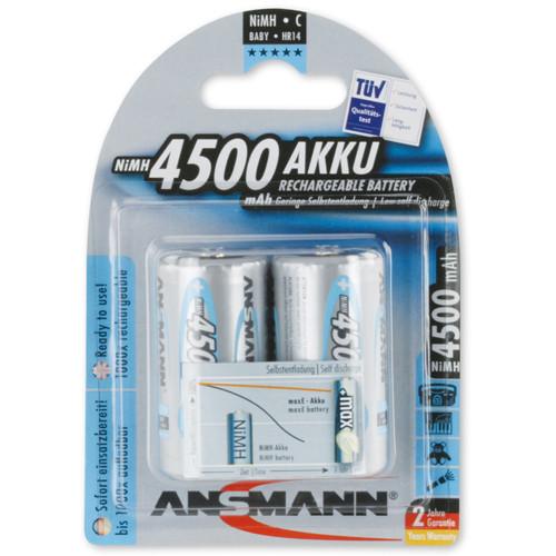 Ansmann Max-E Akku Baby 4500mAh 1,2Volt 4500mAh im 2-er Blister
