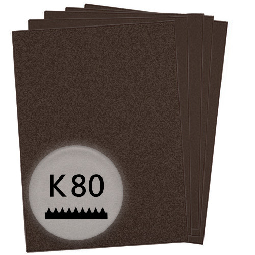 K80 Schleifpapier in 10 Bögen, 230x280mm - für Lack und Auto, wasserfest