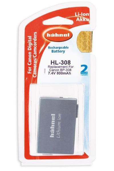 Hähnel Akku passend für Canon BP-308 7,4Volt 800mAh Li-Ion (kein Original)