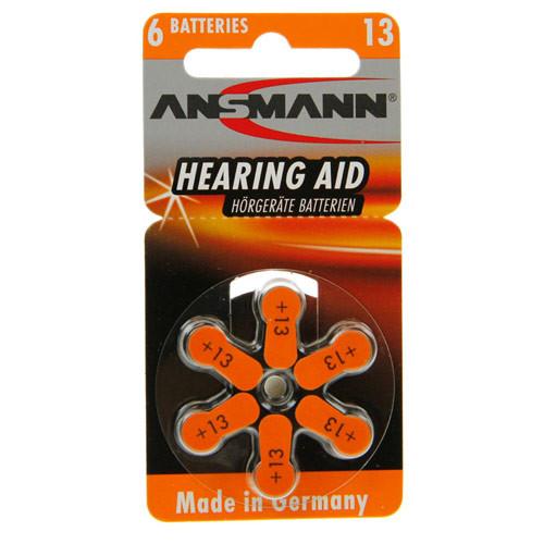 ANSMANN Hörgeräte-Batterien PR48 AZA13 vom Typ 13 (im 6er Pack)