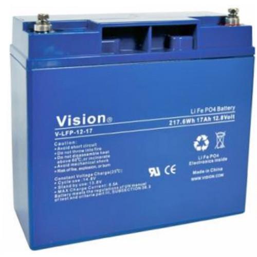 Vision LFP1220 LiFePo4 Akku mit 12 Volt und 20Ah, 240Wh