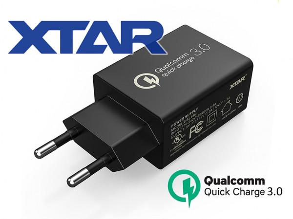 Xtar QC3.0 USB Powernetzteil 5V/3A, Quick Charge 18W