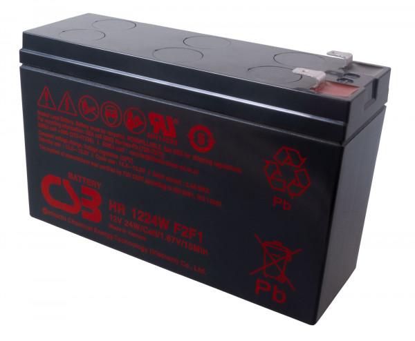 CSB HR1224W Bleiakku, Hochstromfester-Akku 12 Volt 24 Watt